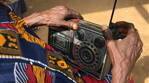 African Christian listens to Radio Ministry